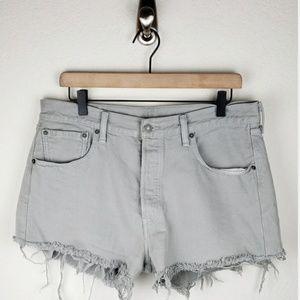 Levi's 501 high rise cut off shorts